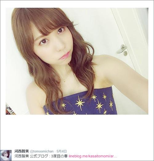 元AKB48の問題児・河西智美、ルックス人気上昇! ″神イベント″でイメージの回復も順調.jpg